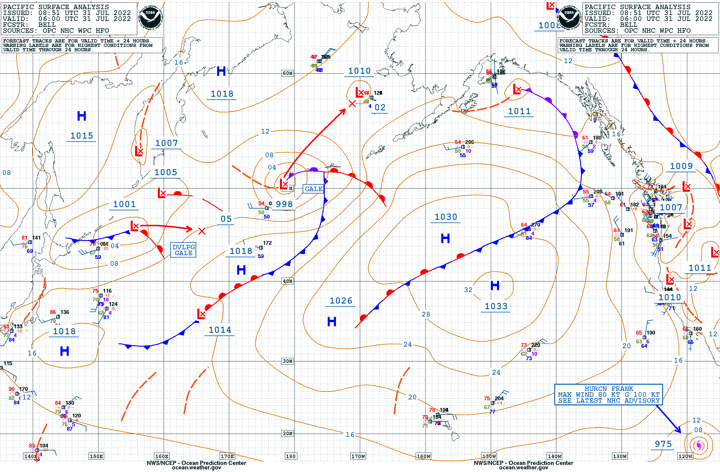 Ocean Prediction Center - Pacific Marine