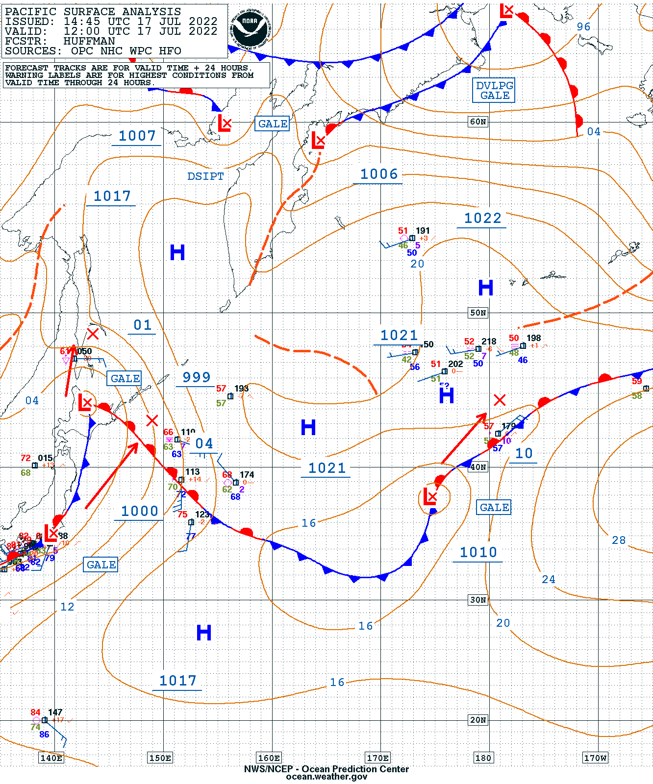 Western Pacific Surface Analysis