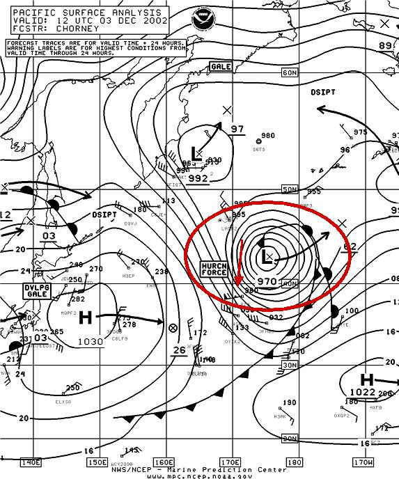 Figure 7A - N Pacific Surface Analysis - Click to Enlarge