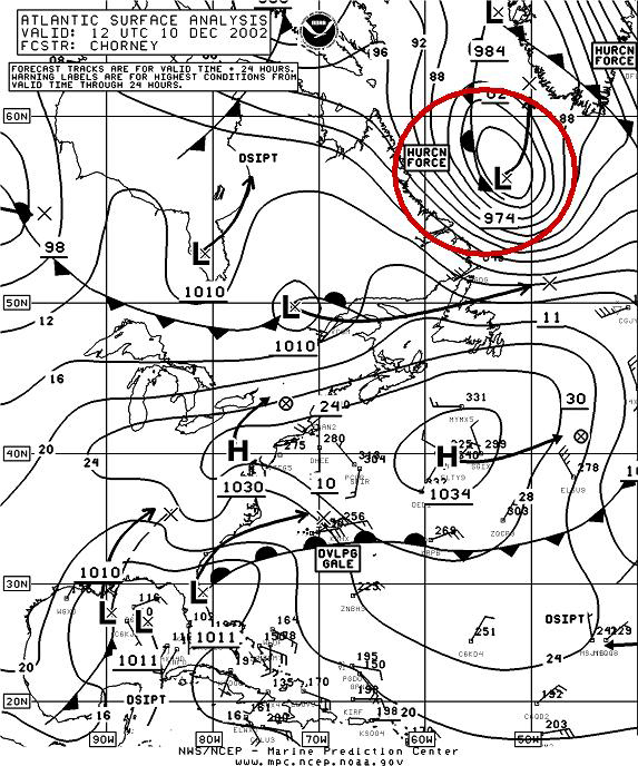 Figure 8A - N Atlantic Surface Analysis - Click to Enlarge