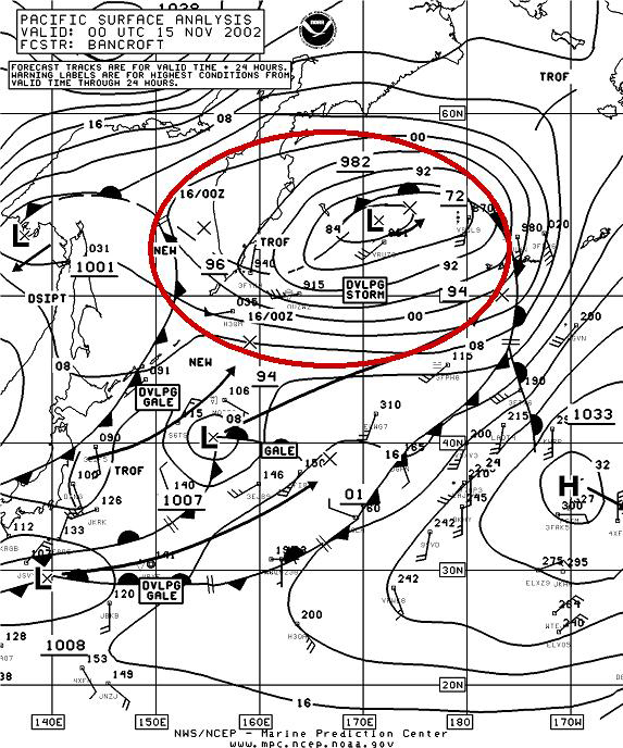 Figure 9A - N Pacific Surface Analysis - Click to Enlarge